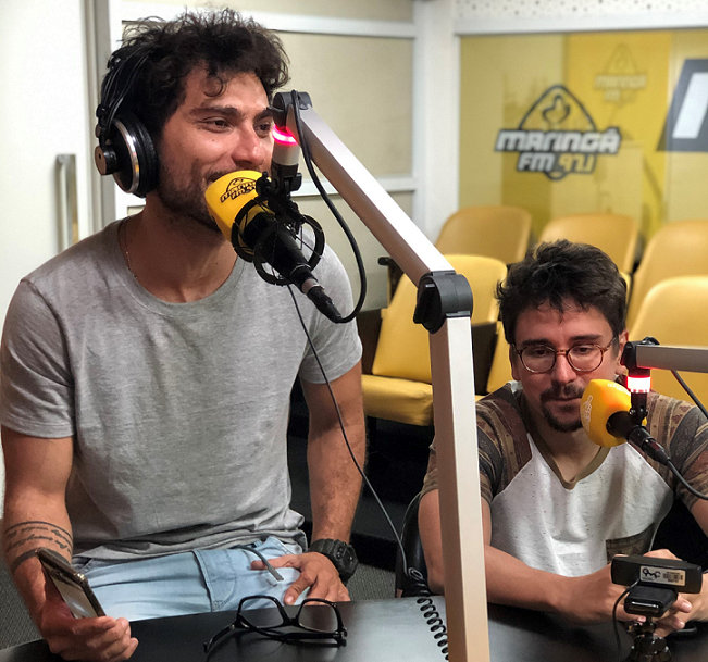 Podcast, Playlist Maringá FM, com Bruninho e Davi